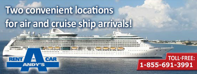 Car rental Pick Up locations for Air & Cruise Ship arrivals